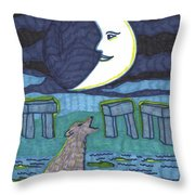 Tarot Of The Younger Self The Moon Throw Pillow
