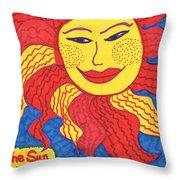 Tarot Of The Younger Self The Sun Throw Pillow