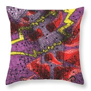 Tarot Of The Younger Self The Tower Throw Pillow