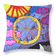 Tarot Of The Younger Self The Wheel Throw Pillow