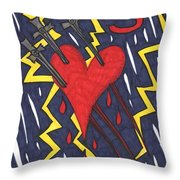 Tarot Of The Younger Self Three Of Swords Throw Pillow