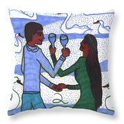Tarot Of The Younger Self Two Of Cups Throw Pillow