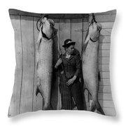 Tarpon Fishing 19th Century  Throw Pillow
