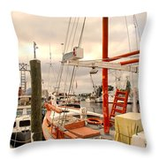 Tarpon Springs Harbor Throw Pillow