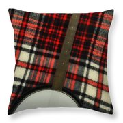 Tartan Banjo Throw Pillow