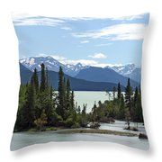 Taseko Lake Throw Pillow
