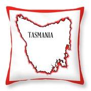 Tasmania Throw Pillow