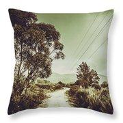 Tasmania Country Roads Throw Pillow
