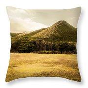 Tasmania West Coast Mountain Range Throw Pillow