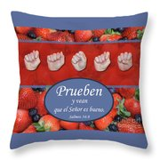 Taste And See Spanish Throw Pillow