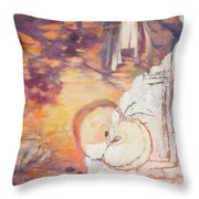 Taste Of The Apple Seeds Throw Pillow