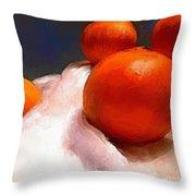Tasting Citrus Throw Pillow