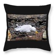 Tasty Crab For Breakfast Throw Pillow