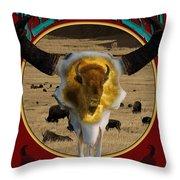 Tatanka American Bison Throw Pillow