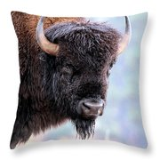 Tatanka Portrait Throw Pillow