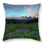 Tatoosh Dawning Throw Pillow