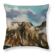 Tatry Mountains- Giewont Throw Pillow