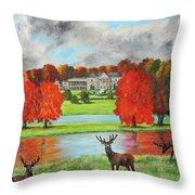 Tatton Hall In Autumn Throw Pillow