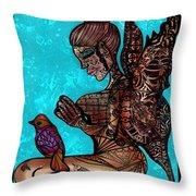 Tattoo Fairy Throw Pillow