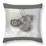 Tattooed Wolverine Throw Pillow