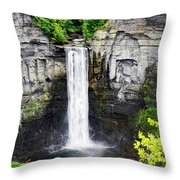 Taughannock Falls View From The Top Throw Pillow
