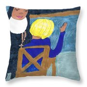 Taught By Nuns Throw Pillow