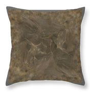 Taupe Fractal Composition Throw Pillow