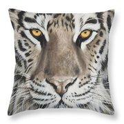 Taupe Tiger Throw Pillow