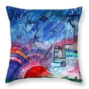 Taurean Sunset  Throw Pillow