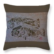 Tautog With Shadow Throw Pillow