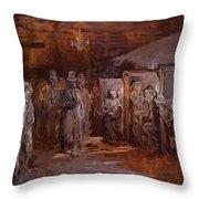 Tavern In Whitechapel 1869 Throw Pillow