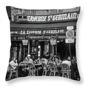 Taverne St. Germain, Paris Throw Pillow