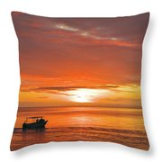 Taveuni Sunset Throw Pillow
