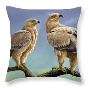 Tawny Eagles Throw Pillow