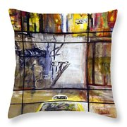 Taxi 7 Throw Pillow