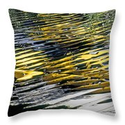 Taxi Abstract Throw Pillow by Tony Cordoza