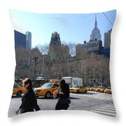 Taxi Anyone Throw Pillow