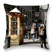 Taxi Booth Throw Pillow