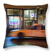 Taxi Cab, Portland, Maine  -17754 Throw Pillow