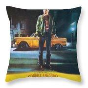 Taxi Driver - Robert De Niro Throw Pillow by Georgia Fowler