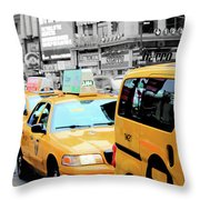 Taxiderby Throw Pillow