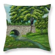 Taylor Lake Stone Bridge Throw Pillow