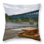 Taylor Peace River Bridge Throw Pillow
