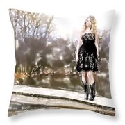Taylor Swift Watercolor Throw Pillow