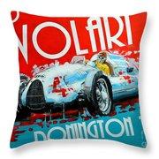 Tazio Nuvolari Auto Union D Donnington 1939 Throw Pillow
