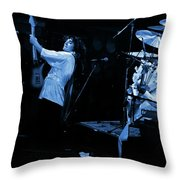 Tb76#12 Crop 2 Enhanced In Blue Throw Pillow