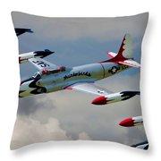 Tbirds Lockheed T-33 Shooting Star Throw Pillow