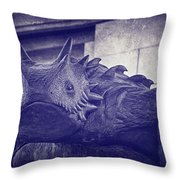 Tcu Horned Frog Purple Throw Pillow