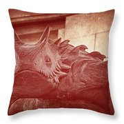 Tcu Horned Frog Red Throw Pillow