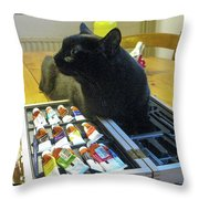 The Artist Formerly Known As Fluf Throw Pillow